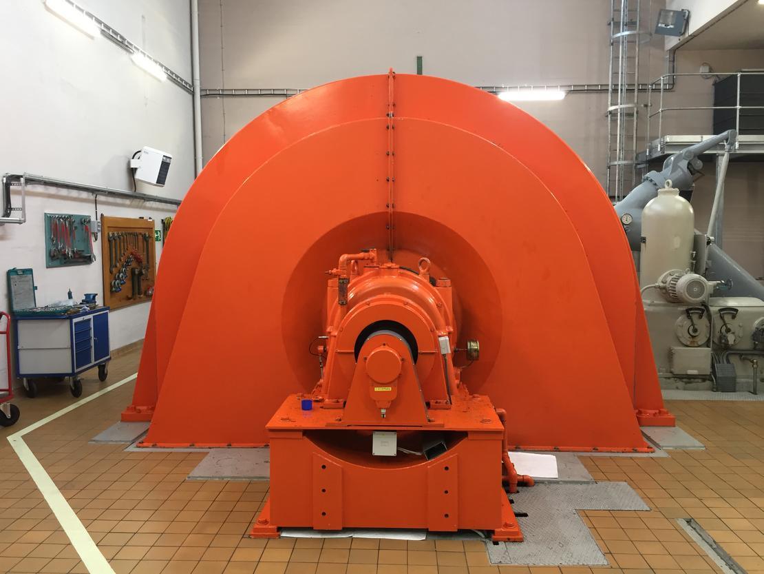 Her vises turbinen for Vrenga. Den er farget orange.