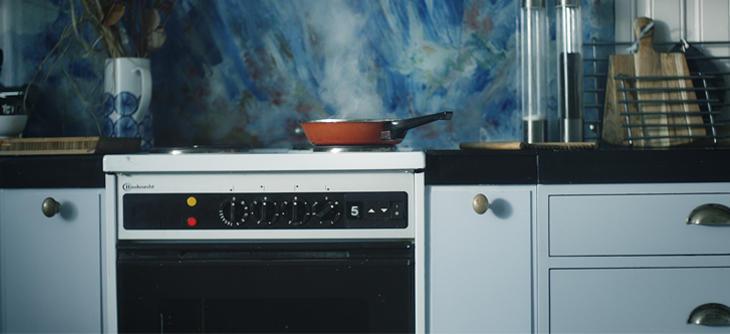 Komfyr. Kjøkken. Komfyrvakt