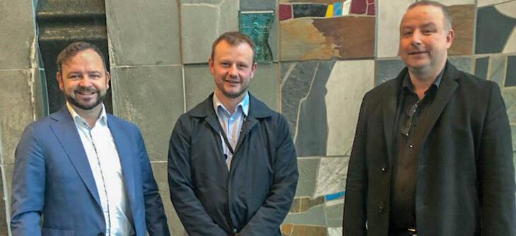 Fra venstre: Øivind Askvik (Skagerak Nett), Håvard Tamburstuen (Lyse Elnett) og Ketil Tømmernes (BKK Nett)