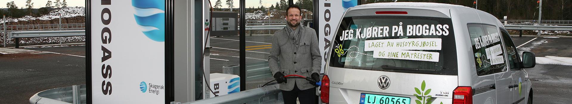 Fylling av biogass på bil